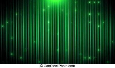 poprowadzony, vj, zielone tło, ożywiony, blask