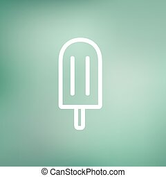 Popsicle thin line icon - Popsicle icon thin line for web...