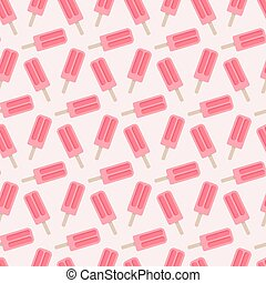 Popsicle vector seamless pattern