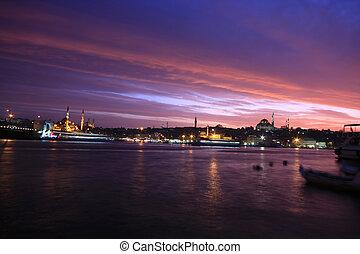 populære, steder, ind, istanbul
