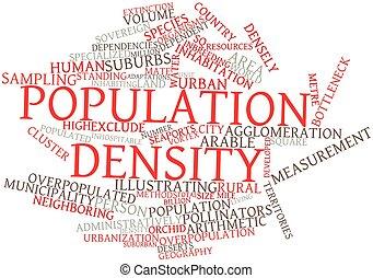população, densidade