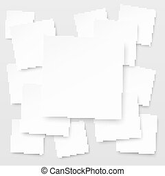 popular abstract square element white paper blank isolated backg