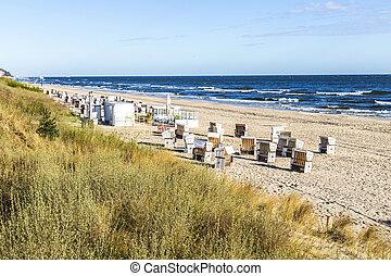 Baltic sea beach on Usedom island