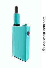 Popular blue vaping device. Safely Vaper gadget 3d illustration isolated on white background