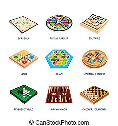 Popular board game icons