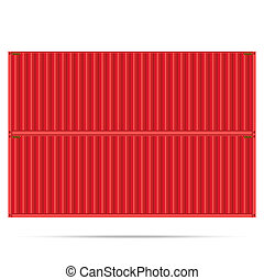 popular cargo container shipping freight isolated texture