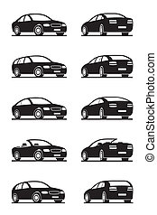 popular, coches, perspectiva
