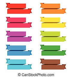 popular color pack ribbon paper vintage label banner isolated ve