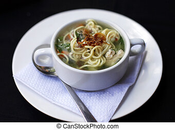 chicken noodle soup - Popular comfort food of chicken noodle...
