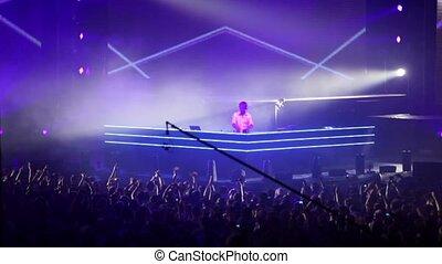 Popular Dutch DJ Armin Van Buuren on stage