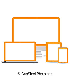 popular full responsive web design electronic devices