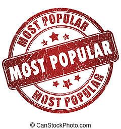 popular, más, estampilla