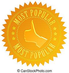 popular, más, sello