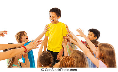 popular, maioria, classe, criança