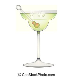 Popular martini cocktail