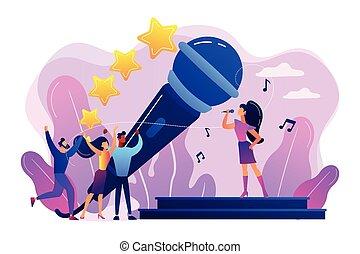 Popular music concept vector illustration.