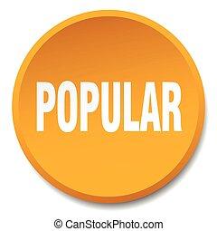 popular orange round flat isolated push button