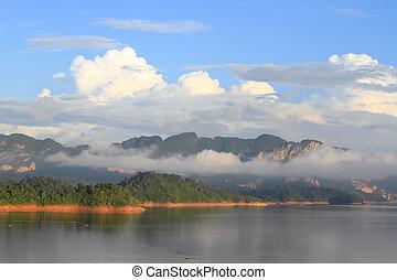 popular, parque, tailandia, khao-sok, nacional