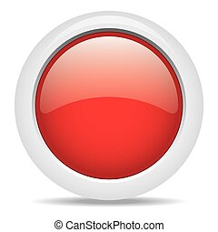 popular red color web button 3d vector