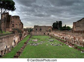 Popular Rome landmark in Italy