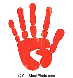 popular scream red bloody handprints halloween isolated on white