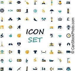 popular set of flat icons