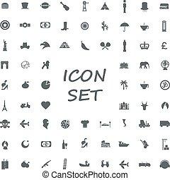 popular set of monotone flat icons