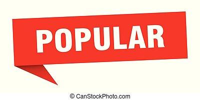 popular speech bubble. popular sign. popular banner