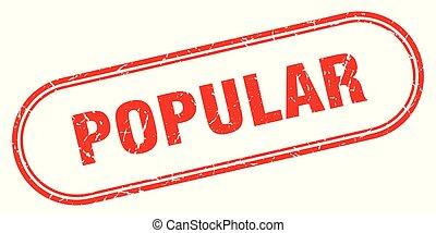 popular stamp. popular square grunge sign. popular