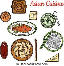 Popular thai dinner for asian cuisine design - Thai deep...