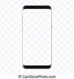 Popular top model of modern frameless smartphone....