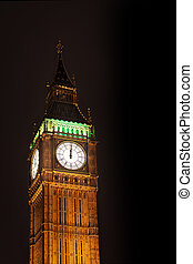 Big Ben and Houses of Parliament in night lights