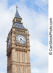 Popular tourist Big Ben tower in London, England, UK