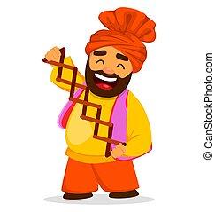 Funny Sikh man - Popular winter Punjabi folk festival Lohri....