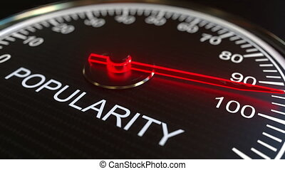Popularity meter or indicator conceptual animation - Analog...