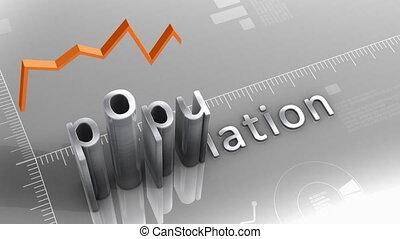 """Population decreasing chart, statistic and data"" - ""..."