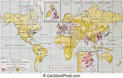 Population density - World population density at the end of...