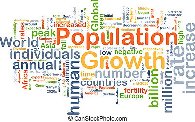 Population growth background concept