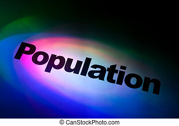 Population - Color light and word of Population for...