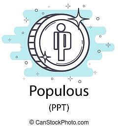 populous, moneda, contorno