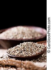 porção, sementes, cânhamo