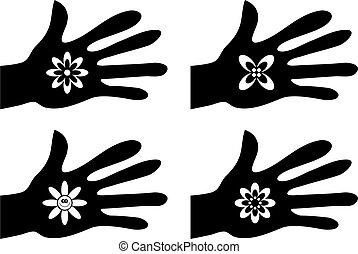 poręczny, kwiaty