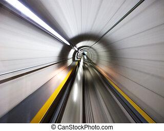 por, el, túnel
