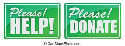 por favor, donar, verde, elasticidad