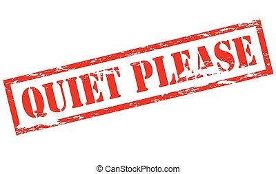 por favor, tranquilidad