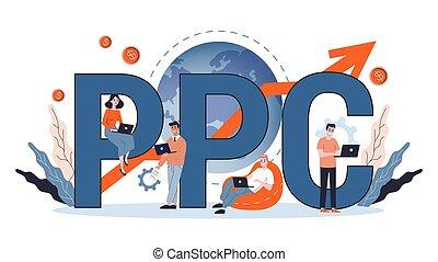por, publicidad, ppc, clic, internet, paga