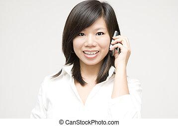 por teléfono