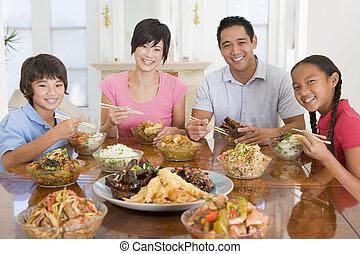 pora na posiłek, razem, rodzina, cieszący się, mąka