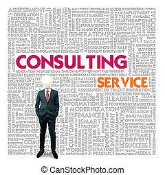 poradní, vzkaz, finance, servis, pojem, povolání, mračno