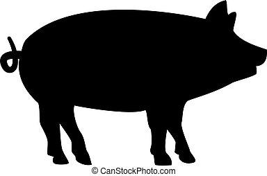 porca, silueta